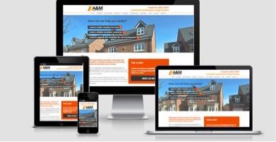 A&M responsive website