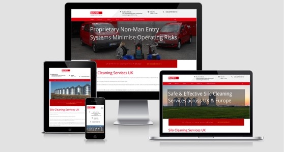 Silo cleaning responsive website
