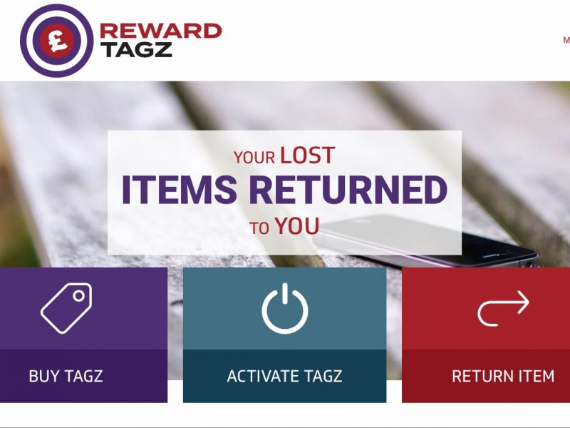 Reward Tagz homepage screenshot