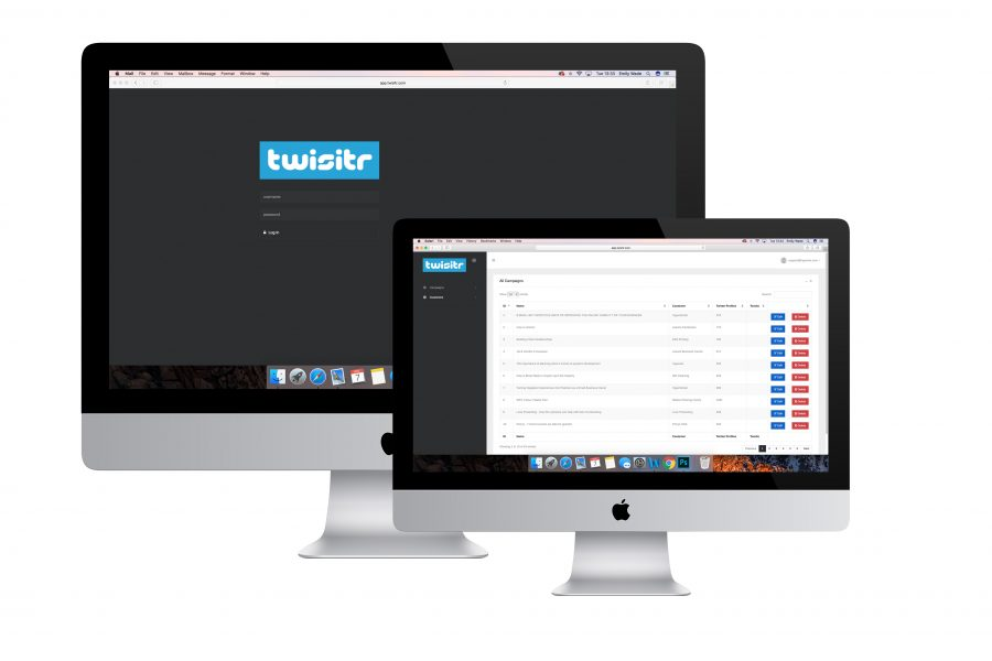 Twisitr web app