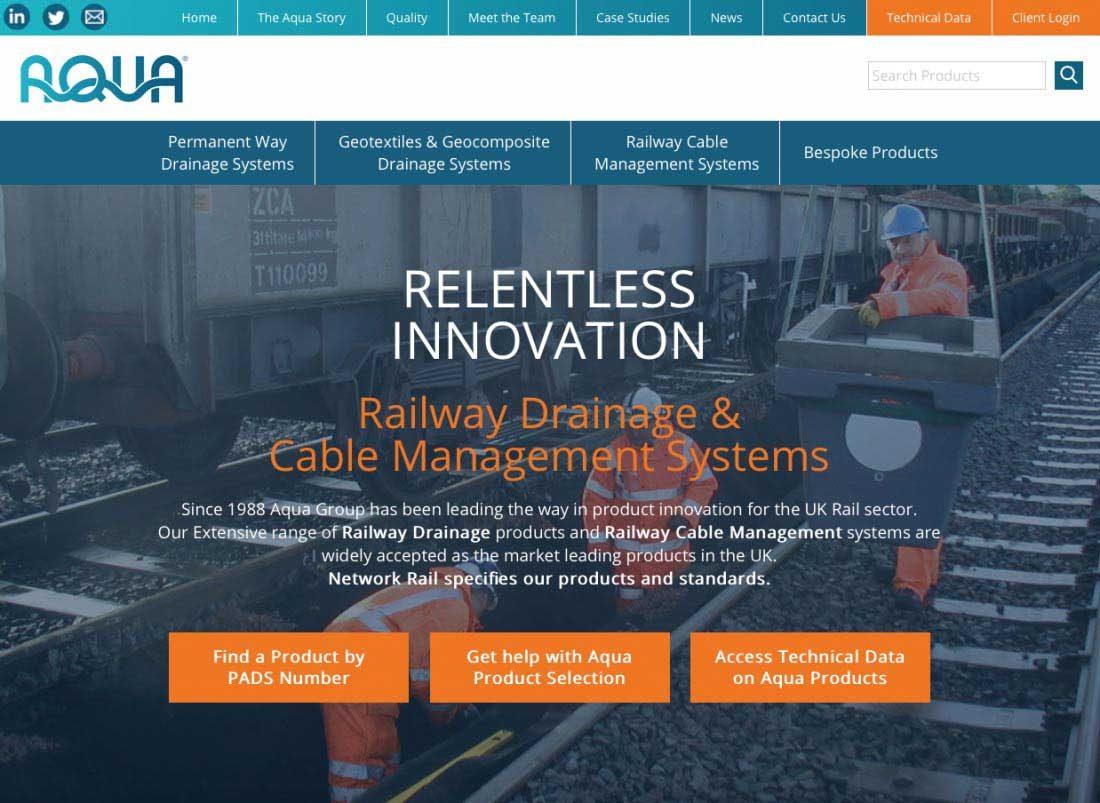 Aqua website screenshot