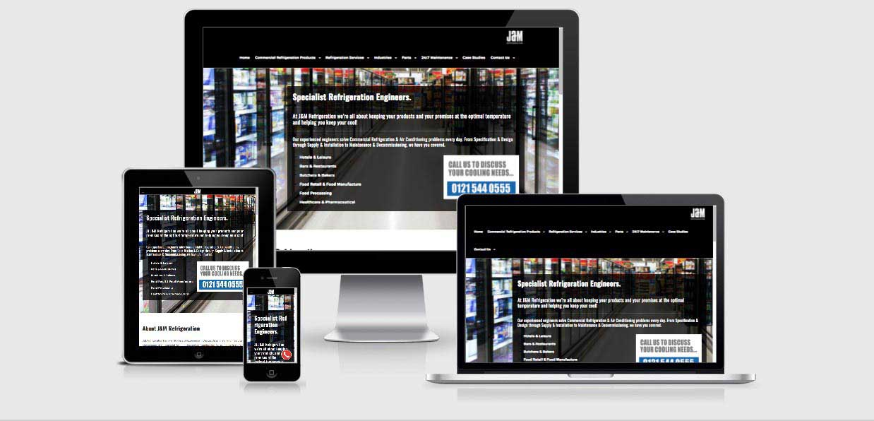J&M refrigeration responsive website