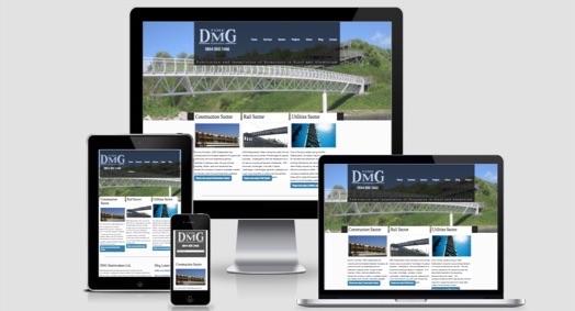 DMG steelworks responsive website
